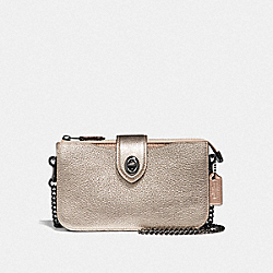 COACH F38934 Turnlock Crossbody In Colorblock GM/PLATINUM MULTI