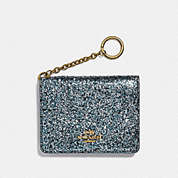 COACH F38945 Key Ring Card Case GM/METALLIC GRAPHITE