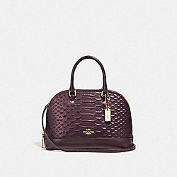 MICRO MINI SIERRA SATCHEL - F38951 - OXBLOOD 1/LIGHT GOLD