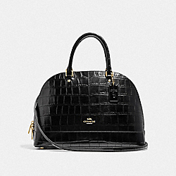 SIERRA SATCHEL - F38954 - BLACK/IMITATION GOLD