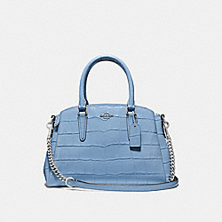 COACH F38956 - MINI SAGE CARRYALL CORNFLOWER/SILVER