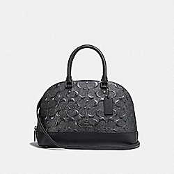 COACH F38960 - MINI SIERRA SATCHEL IN SIGNATURE LEATHER CHARCOAL/BLACK ANTIQUE NICKEL