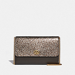 COACH F38963 - MARLOW TURNLOCK CHAIN CROSSBODY PLATINUM/GOLD