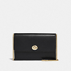 MARLOW TURNLOCK CHAIN CROSSBODY - F38966 - GD/BLACK