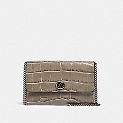 COACH F38969 - MARLOW TURNLOCK CHAIN CROSSBODY GM/HEATHER GREY