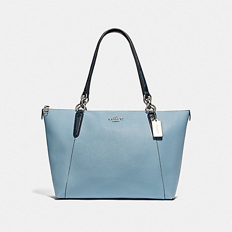 COACH F38993 AVA TOTE CORNFLOWER/MIDNIGHT/SILVER