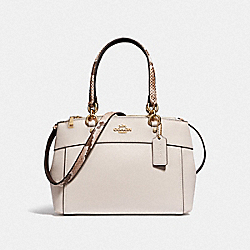 MINI BROOKE CARRYALL - F38994 - CHALK/NEUTRAL/LIGHT GOLD