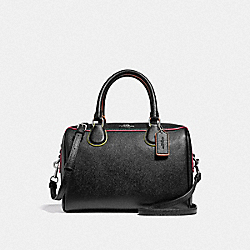 MINI BENNETT SATCHEL - F38999 - BLACK/MULTI/SILVER