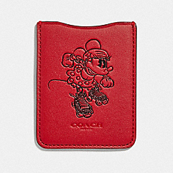 COACH F39005 - MINNIE MOUSE ROLLERSKATE PHONE POCKET STICKER 1941 RED
