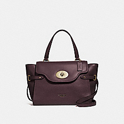 LARGE BLAKE FLAP CARRYALL - F39020 - OXBLOOD 1/LIGHT GOLD