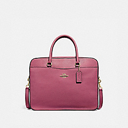 COACH F39022 - LAPTOP BAG ROUGE/GOLD