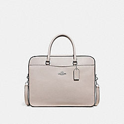 COACH F39022 - LAPTOP BAG GREY BIRCH/SILVER