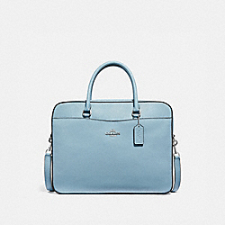 COACH F39022 Laptop Bag CORNFLOWER/SILVER