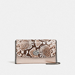 COACH F39026 Chain Crossbody PLATINUM/SILVER