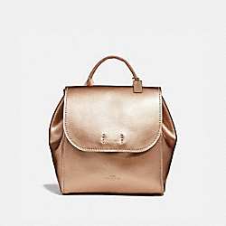 COACH F39040 - LARGE DERBY BACKPACK ROSE GOLD/LIGHT GOLD