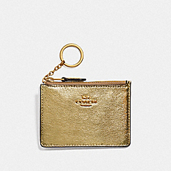 COACH F39065 Mini Skinny Id Case WHITE GOLD/LIGHT GOLD