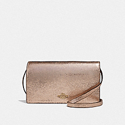COACH F39066 Hayden Foldover Crossbody Clutch ROSE GOLD/LIGHT GOLD