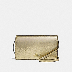 COACH F39066 Hayden Foldover Crossbody Clutch WHITE GOLD/LIGHT GOLD