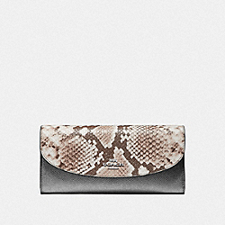 SLIM ENVELOPE WALLET - F39083 - GUNMETAL/SILVER