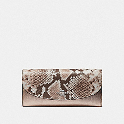 COACH F39083 - SLIM ENVELOPE WALLET PLATINUM/SILVER
