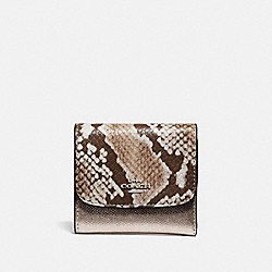 COACH F39084 - SMALL WALLET PLATINUM/SILVER