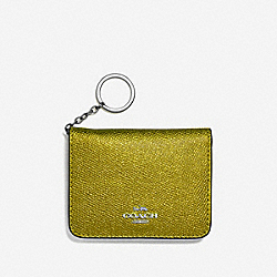 COACH F39105 Bifold Card Case METALLIC YELLOW/SILVER