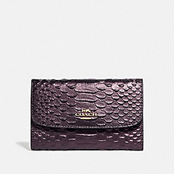 COACH F39114 Medium Envelope Wallet OXBLOOD 1/LIGHT GOLD