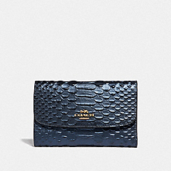 COACH F39114 - MEDIUM ENVELOPE WALLET METALLIC DENIM/LIGHT GOLD