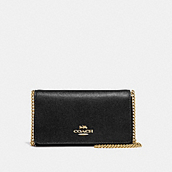 COACH F39126 - DRESSY CROSSBODY BLACK/LIGHT GOLD