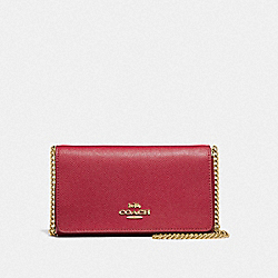 COACH F39126 - DRESSY CROSSBODY TRUE RED/LIGHT GOLD