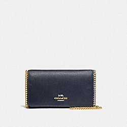 COACH F39126 - DRESSY CROSSBODY MIDNIGHT/LIGHT GOLD