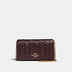 CROSSBODY WITH QUILTING - F39142 - OXBLOOD 1/LIGHT GOLD
