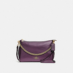 CARRIE CROSSBODY - F39207 - METALLIC RASPBERRY/LIGHT GOLD