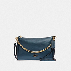COACH F39207 Carrie Crossbody METALLIC DENIM/LIGHT GOLD