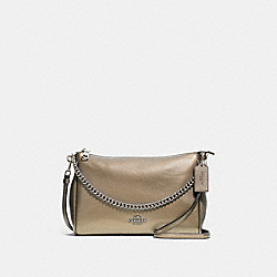 CARRIE CROSSBODY - F39207 - PLATINUM/SILVER
