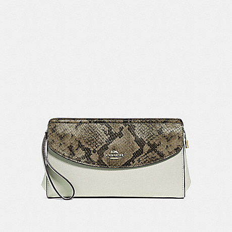 COACH F39219 FLAP CLUTCH CHALK/NEUTRAL/LIGHT GOLD