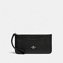 COACH F39236 Zip Top Wallet BLACK/LIGHT GOLD