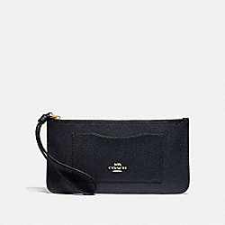 COACH F39236 Zip Top Wallet MIDNIGHT/LIGHT GOLD