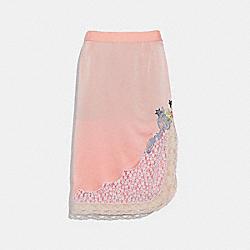 COACH F39279 Selena Lace Detail Skirt PAJAMA PINK