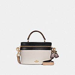 SELENA TRAIL BAG IN COLORBLOCK - F39291 - CHALK MULTI/GOLD