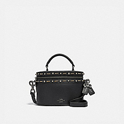 SELENA TRAIL BAG WITH CRYSTAL EMBELLISHMENT - F39292 - BLACK/GUNMETAL