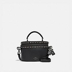 COACH F39292 Selena Trail Bag With Crystal Embellishment BLACK/GUNMETAL