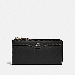COACH F39310 L-zip Wallet BLACK/LIGHT GOLD