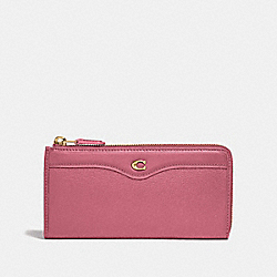 COACH F39310 L-zip Wallet STRAWBERRY/LIGHT GOLD