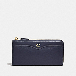 COACH F39310 L-zip Wallet MIDNIGHT/LIGHT GOLD