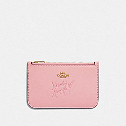 COACH F39321 - SELENA ZIP CARD CASE IN COLORBLOCK PEONY MULTI/GOLD