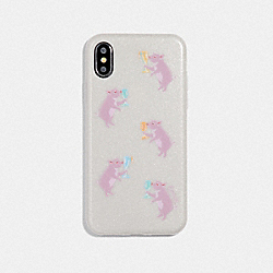 IPHONE X/XS CASE WITH PARTY PIG PRINT - CHALK - COACH F39344