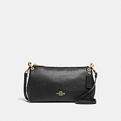 CHARLEY CROSSBODY - F39380 - BLACK/LIGHT GOLD