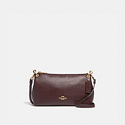 CHARLEY CROSSBODY - F39380 - OXBLOOD 1/LIGHT GOLD