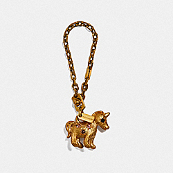 JEWELED UNI BAG CHARM - F39407 - B4/BRASS